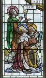 St Luke. St John the Baptist and King David: Christ in Glory with Saints and other Characters from the Bible