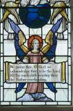 Angel Holding a Text: Christ in Glory with Saints and other Characters from the Bible