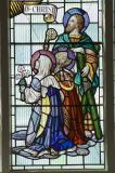 St Andrew, the Virgin Mary and a Bishop: Christ in Glory with Saints and other Characters from the Bible