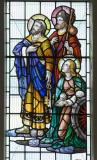 St Peter, St James and St Catherine: Christ in Glory with Saints and other Characters from the Bible
