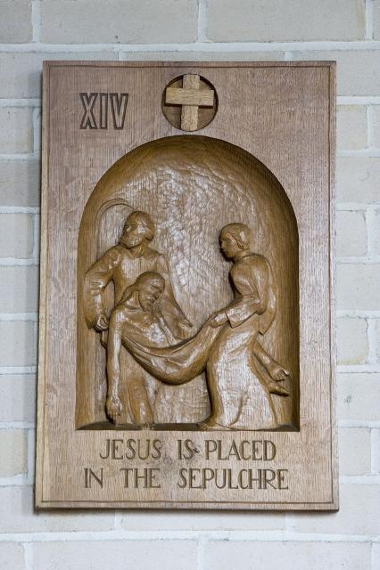 Jesus is Placed in the Sepulchre    from    Stations of the Cross