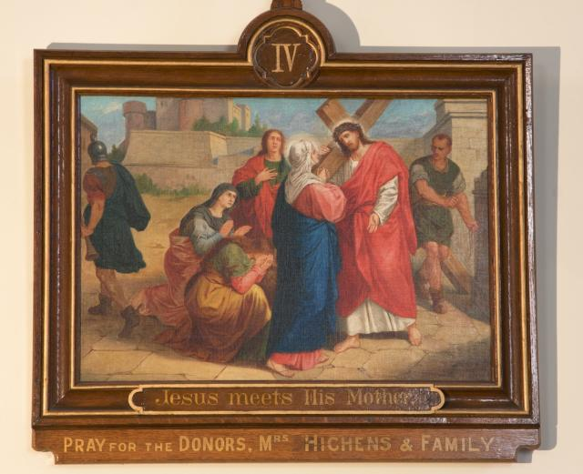 Jesus meets His Mother    from    Stations of the Cross