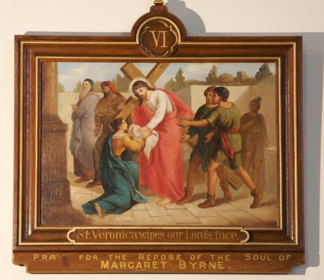 St Veronica Wipes our Lord's face    from    Stations of the Cross
