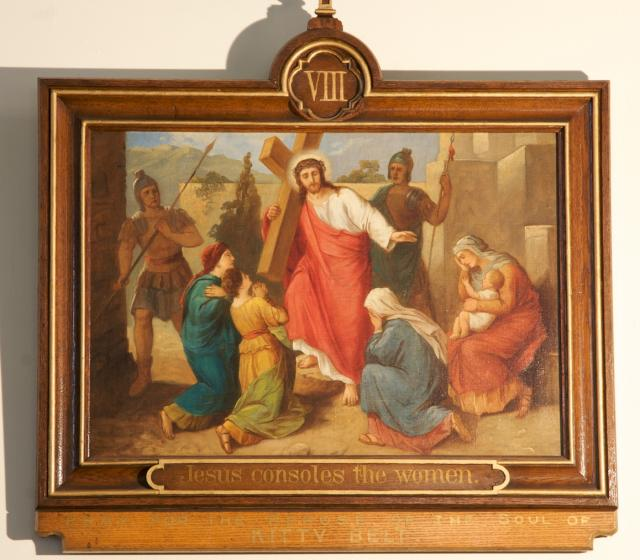 Jesus consoles the women    from    Stations of the Cross