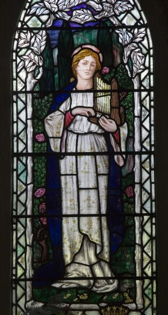 St Cecilia    from    Virgin and Child with St Cecilia and St Margaret