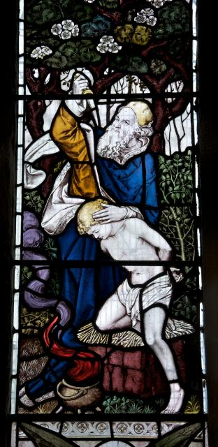 Abraham Sacrificing Isaac    detail from    Faith, Hope and Charity