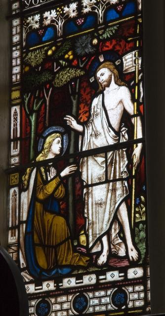 The Risen Christ Meets Mary Magdalene    detail from    The Ascension with Scenes from the New Testament