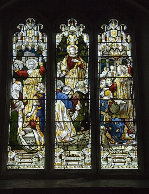 The Risen Christ and Apostles with Scenes from Acts