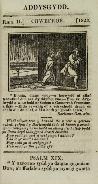 Lot and His Daughters Leaving Sodom    from    Illustrations from the Addysgydd