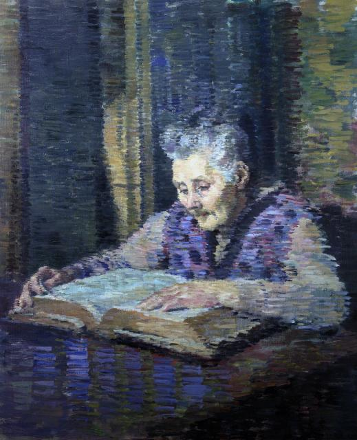 Portrait of the Artist's Mother Reading the Bible