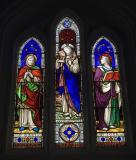 Christ the Good Shepherd with the Virgin Mary and St John