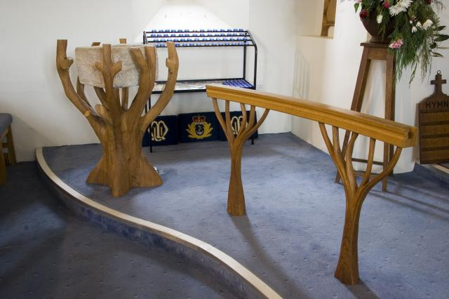 Font Holder and Communion Rail    from    Tree of Life Fittings