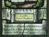 Inscription and Signature: Christ the Good Shepherd