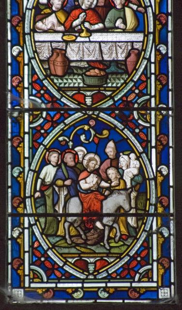 The Entry into Jerusalem    detail from    Scenes from the Passion and Resurrection of Christ, and the Acts of the Apostles