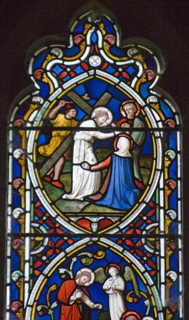 Christ Meets His Mother while Carrying the Cross    detail from    Scenes from the Passion and Resurrection of Christ, and the Acts of the Apostles