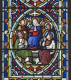 The Virgin Mary with the Apostles at Pentecost: Scenes from the Passion and Resurrection of Christ, and the Acts of the Apostles
