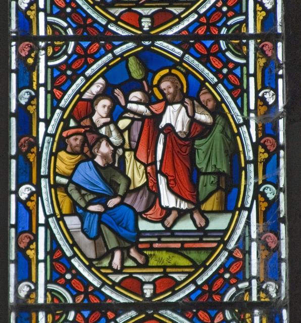 One of the Apostles Preaching    detail from    Scenes from the Passion and Resurrection of Christ, and the Acts of the Apostles