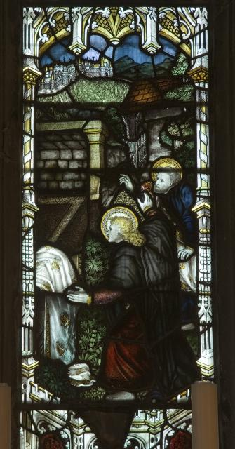 St Peter and St John at the Empty Tomb    detail from    Scenes from the Resurrection of Christ