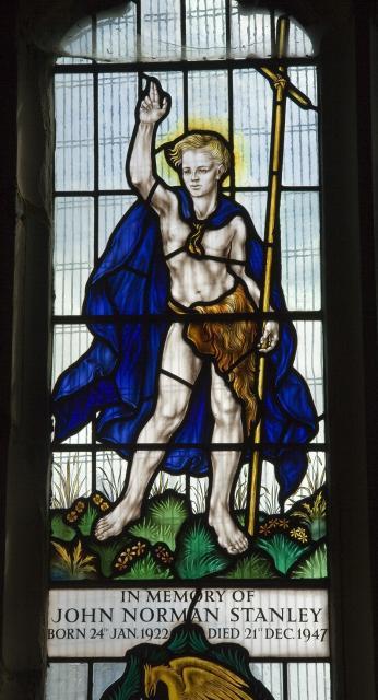 St John the Baptist    detail from    St John the Baptist and St Martin Dividing his Cloak