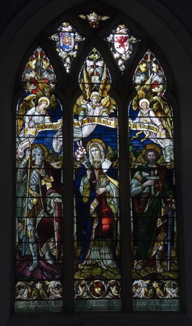 Virgin Mary with George and the Dragon and St Alban