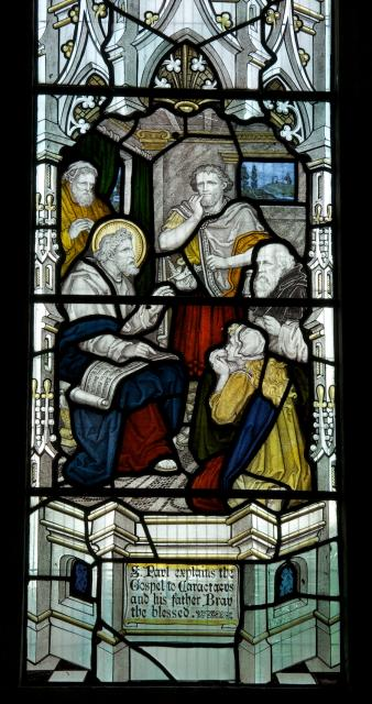 St Paul Explains the Gospel to Caractacus and His Father Bran the Blessed    detail from    Scenes from Early Christian History