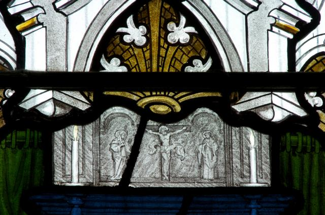 The Crucifixion with the Virgin Mary and St John    detail from    Scenes from Early Christian History