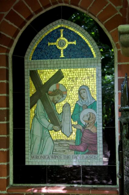 Veronica Wipes the Face of Jesus    from    Stations of the Cross