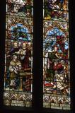 The Calling of Matthew and Ananias Restoring Saul's Sight: Christ in Majesty with Scenes from the Bible