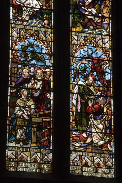 The Calling of Matthew and Ananias Restoring Saul's Sight    detail from    Christ in Majesty with Scenes from the Bible