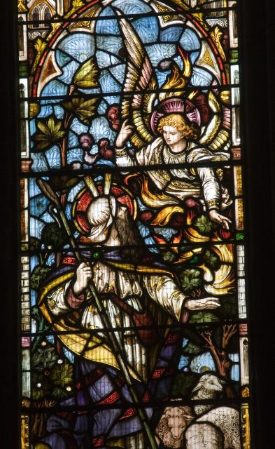 Moses with the Burning Bush    detail from    Christ in Majesty with Scenes from the Bible