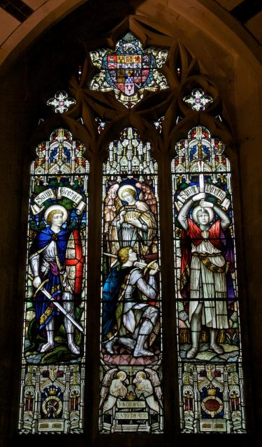 Receiving the Crown of Life with St George and St Martin