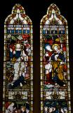 The Risen Christ with St John and St Peter: Scenes from the Gospels