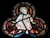 Infant Christ Seated on a Rainbow: St Christopher Window
