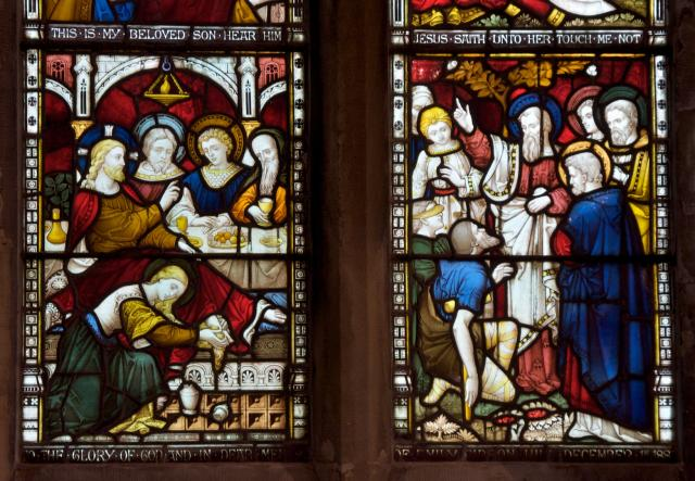 Christ is Anointed and Apostles Healing the Sick    detail from    Scenes from the New Testament