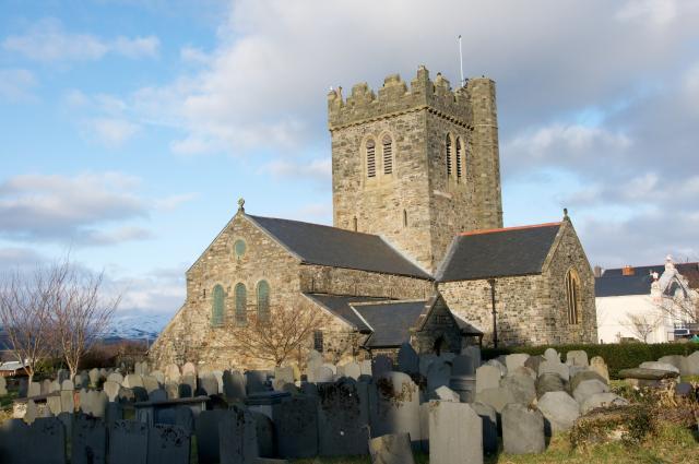 Church of St Cadfan, Tywyn, Gwynedd Tywyn_DSC4668.jpg Photo © Martin Crampin