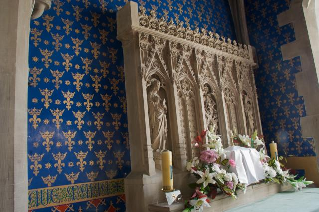 Carved Reredos with Figures