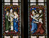 The Betrothal of the Virgin Mary and Joseph and the Visitation: Scenes from the Life of the Virgin Mary