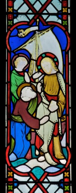 Christ with St Peter and St John    from    Scenes from the Life of Christ with Donors