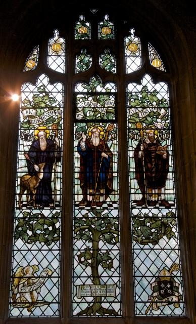 St Giles, St Asaph and St David    from    Tree of Jesse and Saints
