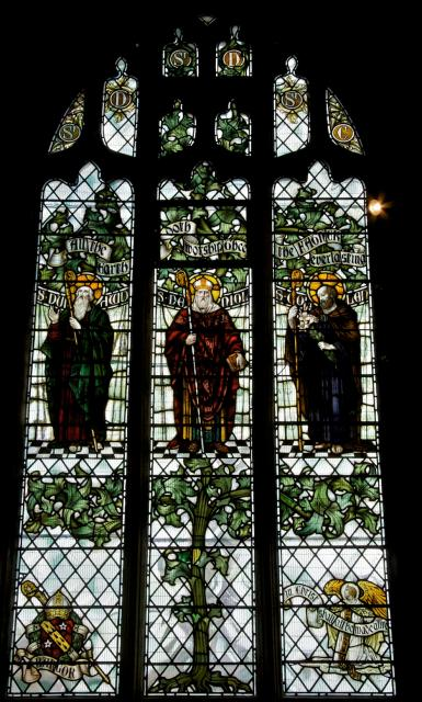 St Dunawd, St Deiniol and St Collen    from    Tree of Jesse and Saints