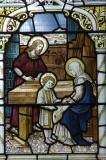 The Holy Family in the Carpenter's SHop: The Virgin Mary with Mary of Bethany and Mary Magdalene