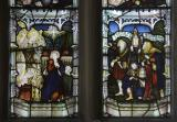 The Annunciation and the Shepherds Setting out to Bethlehem: Virgin and Child with St James, St John and St Winefride