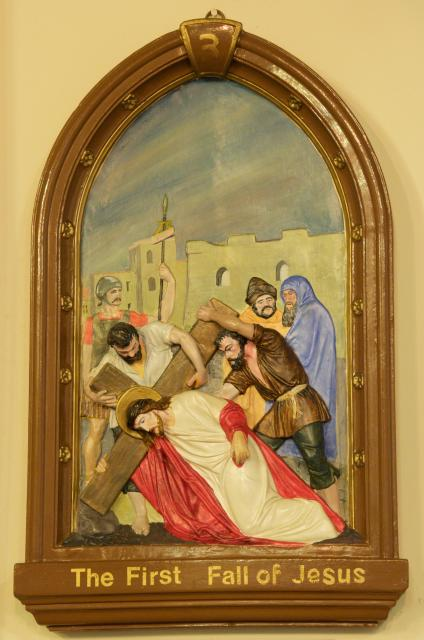 The First Fall of Jesus    from    Stations of the Cross