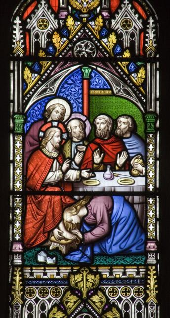 Christ's Feet are Anointed at the House of a Pharisee    detail from    Scenes from the Life of Christ