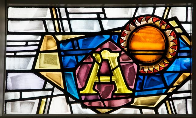 Alpha and Sun    detail from    Sanctuary Windows