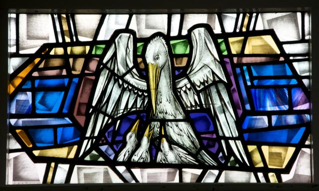 Pelican in Her Piety    detail from    Sanctuary Windows