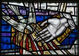 Dove of the Holy Spirit and the Hand of God: Sanctuary Windows