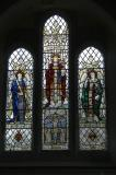 Christ in Majesty with St Michael and St Gabriel and the Crucifixion