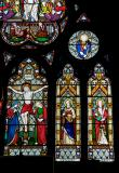 The Crucifixion and Resurrection with the Four Evangelists
