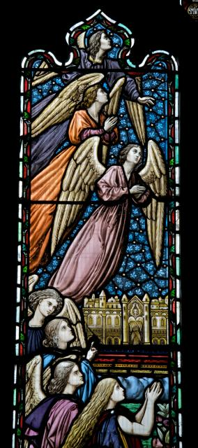 Angels Adoring the Trinity with the New Jerusalem